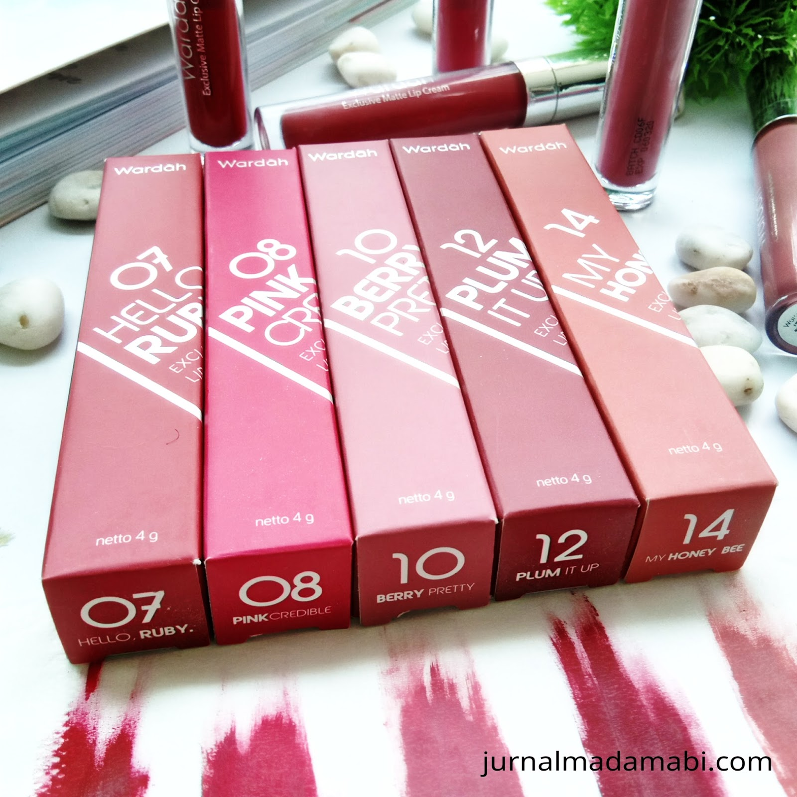 Jual Wardah Exclusive Matte Lip Cream 16 Heart Beet 4 G Termurah Review Swatch 07 08 10 12 14