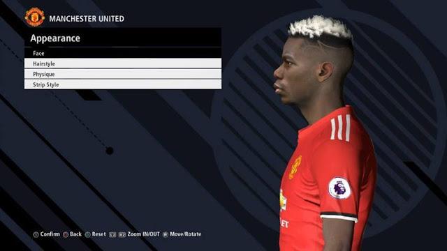 Paul Pogba Face PES 2017