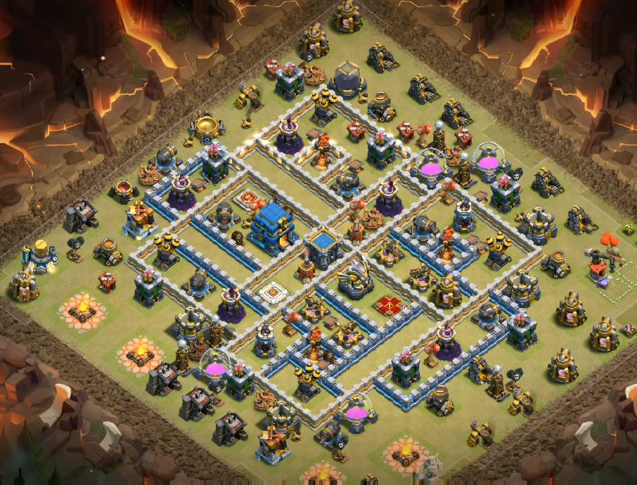 clash of clans th12 war base 3 inferno