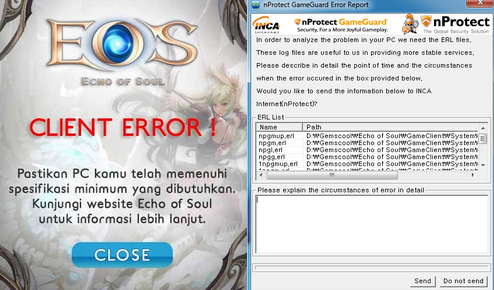 Cara Mengatasi Error EOS Indonesia Perihal Client Error dan Game Guard