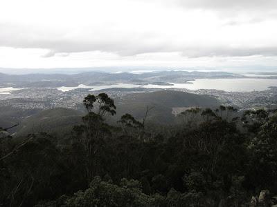 Vistas de Hobart desde Kunanyi, Tasmania
