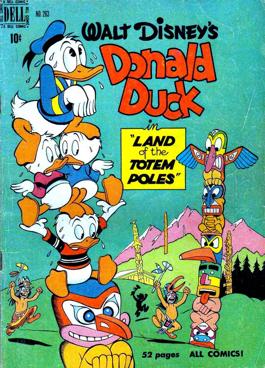 Donald Duck / Four Color Comics v2 #263 - Carl Barks 1940s comic book cover art