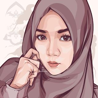 beauty hijab vector