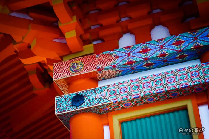 motifs colorés, pagode du kiyomizu-dera, kyoto