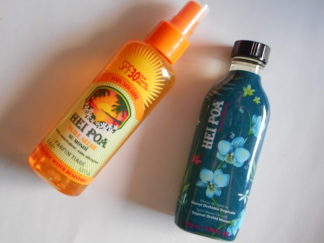Hei Poa Tahiti Monoi Oil Tropical Orchid and Monoi Dry Oil SPF30 Tiare Spray
