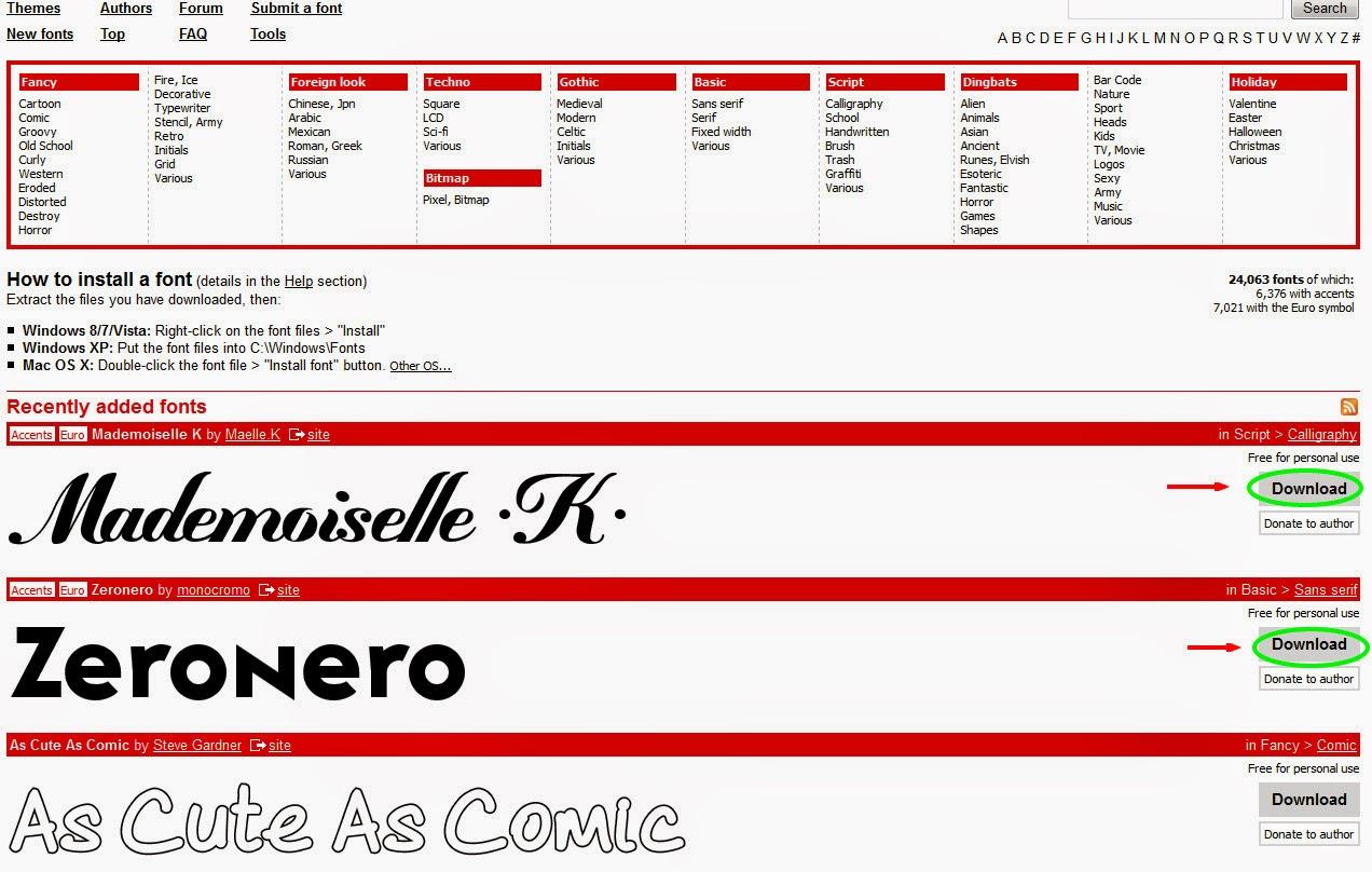 Top 3 Websites To Download Free Fonts online   ALLTECHSPOT