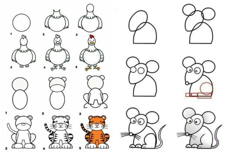 20 dessins faciles pour apprendre dessiner aux enfants made home. Black Bedroom Furniture Sets. Home Design Ideas