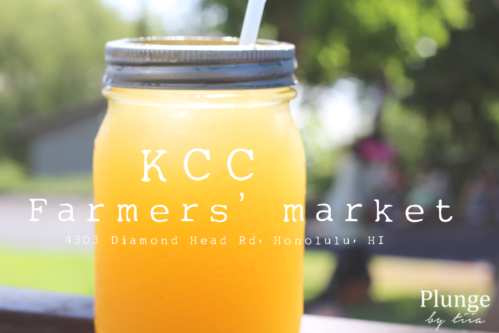 KCC Farmers market, pineapple ginger juice