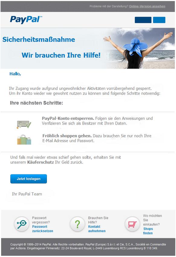 Paypal Konto Verifizieren Mail