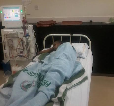 Condition of man whose kidneys were removed by a doctor in Adamawa who thought they were tumors, is getting worse (photo)
