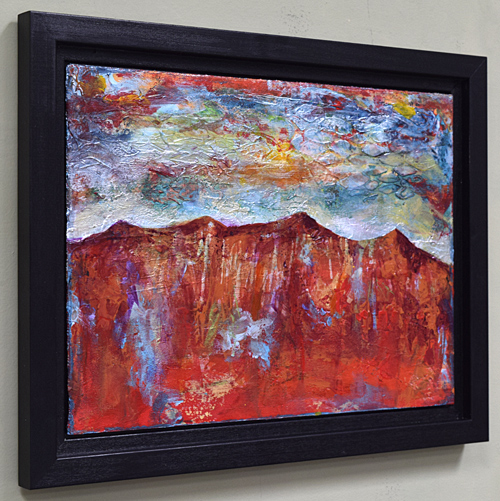 Mountain red painting