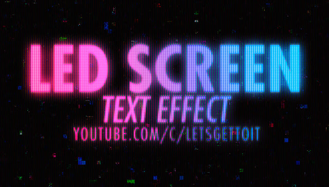 How to Create a LED Screen Text Effect in Photoshop