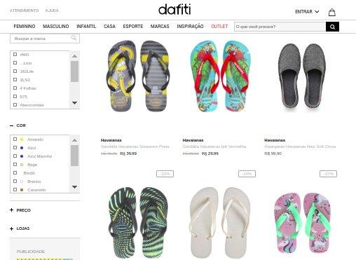 cce8b201a Dafiti calçados oferta havaianas com vários descontos