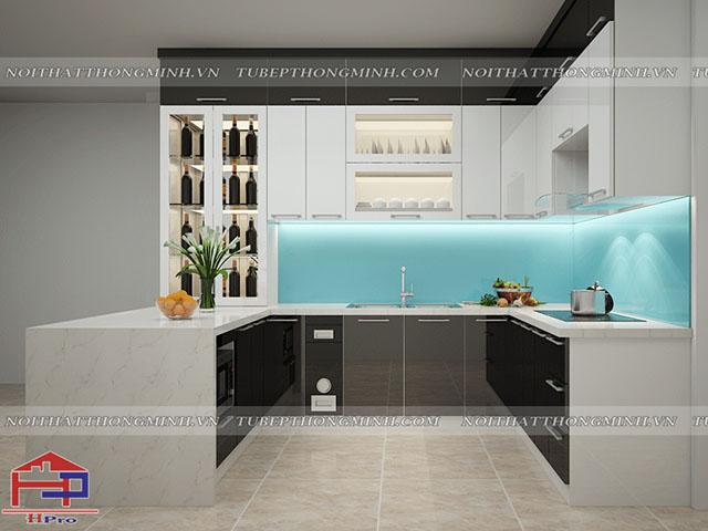 Mẫu thiết kế tủ bếp nhựa tại Hpro