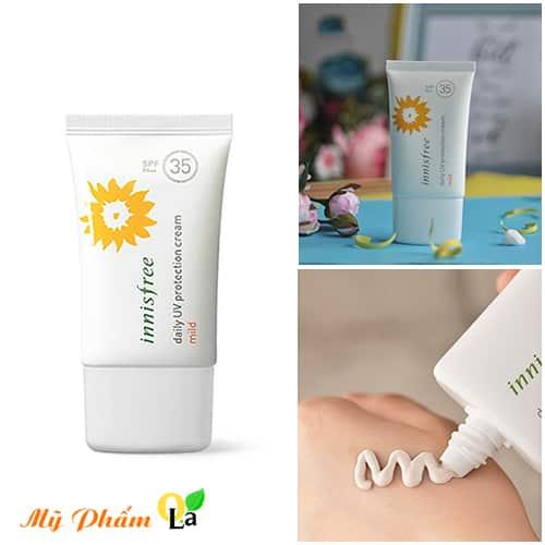 Với chỉ số chống nắng SPF 35 PA+++ phù hợp với tất cả các loại da kể cả làn da nhạy cảm