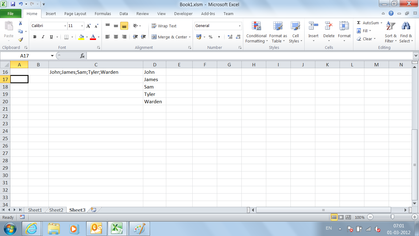 VBA Tips & Tricks: How to Split Text in a Cell to Multiple