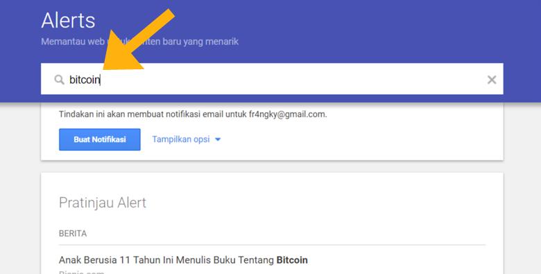 Cara menggunakan Google Alerts