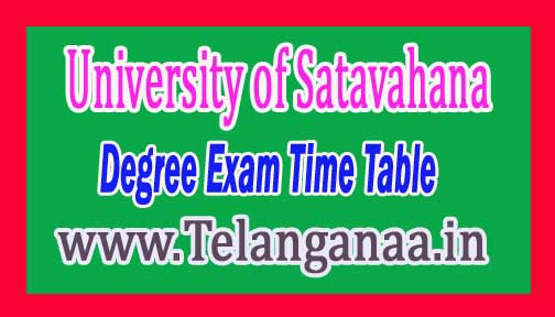 SU Degree I II III Year Supply Practical Time Table Dec-2016