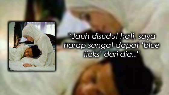 Berharap Mesej Dibalas, Isteri Luah Kerinduan Kepada Suami Yang Telah 'Pergi'