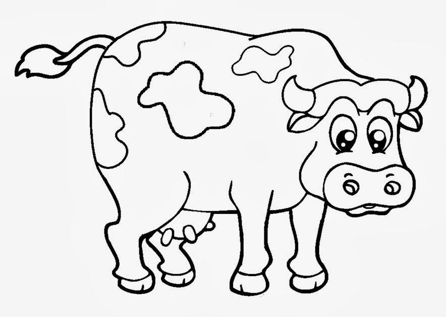 Dibujos De Vacas Animadas Para Colorear: Vaca Animada Imagenes Para Colorear