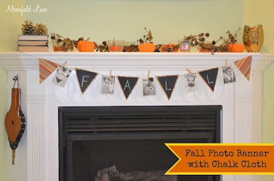 Fall Photo Banner with Chalk Cloth