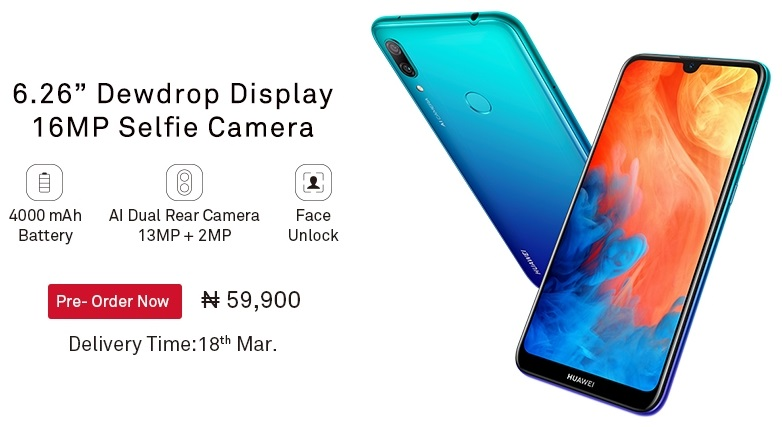Huawei Y7 Prime 2019 Available for Pre-Order on Jumia - GET-D-TIPS