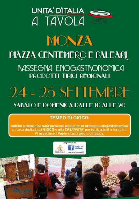Unità d'Italia a Tavola 24-25 settembre Monza