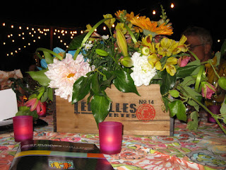 Floral centerpiece, Best Buddies Hearst Castle Challege opening ceremonies, Quail Lodge, Carmel Valley, California