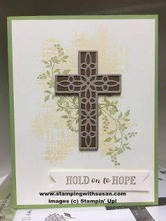 Stampin' Up Hold on to Hope Bundle Cross of Hope Framelits