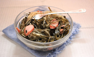 Chinese food - Salad of seaweed, vermicelli and sausage