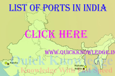 List of ports in india