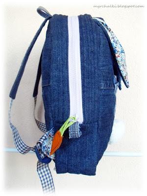 детский рюкзак из джинса