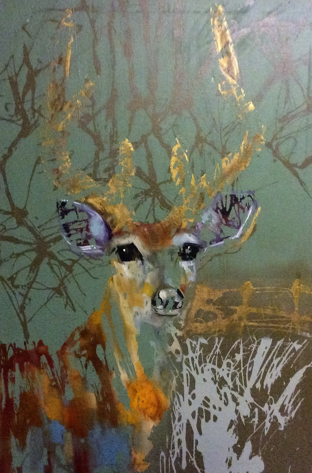 Daily Painters Abstract Gallery: Contemporary Wildlife Oil ...