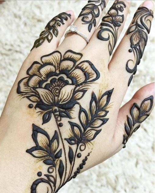 Motif Henna Tangan Cantik Simple Untuk Pemula Shrlyawengg
