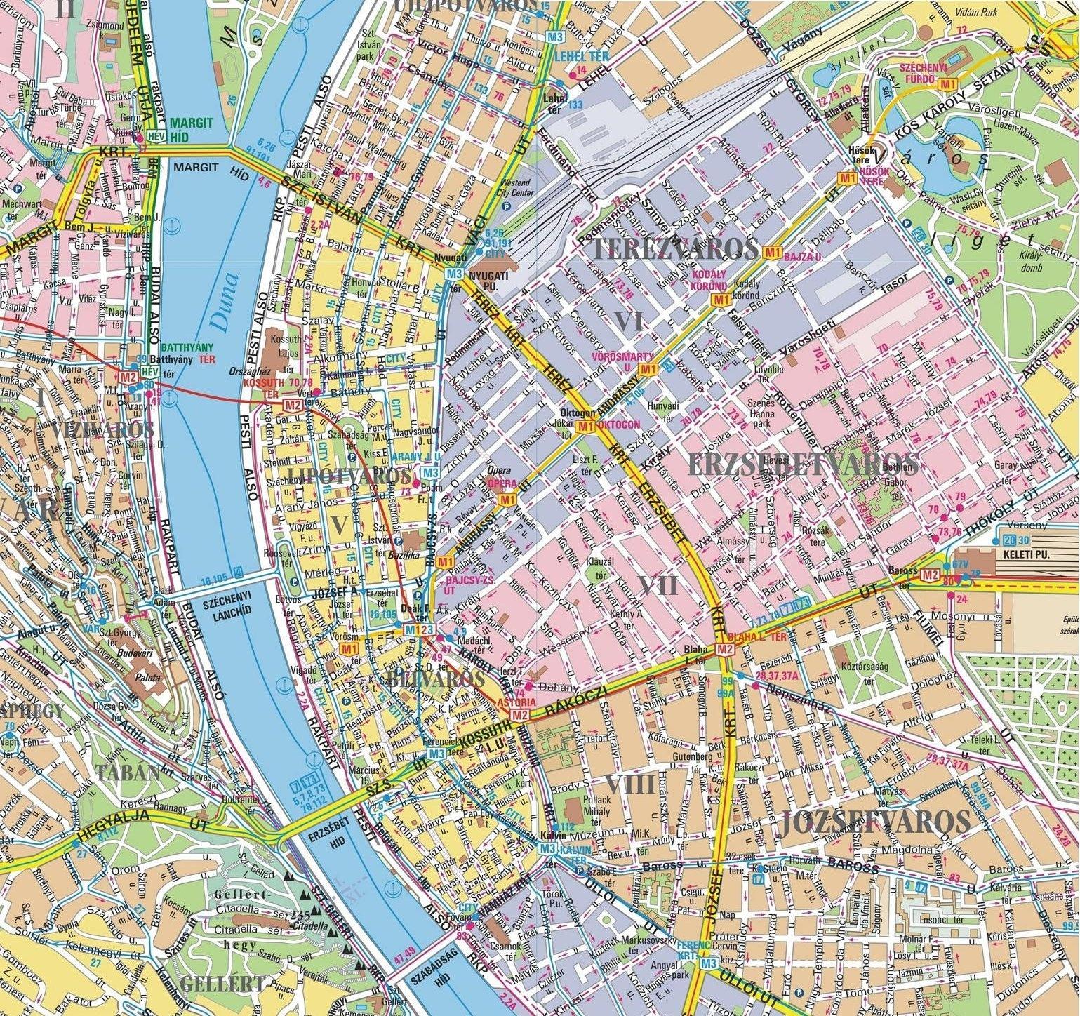 mapa budapeste centro mapa: Budapeste mapa budapeste centro