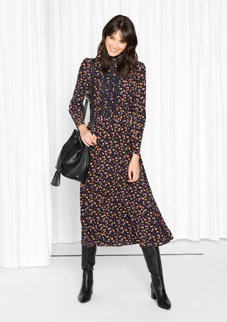 dandelion print dress