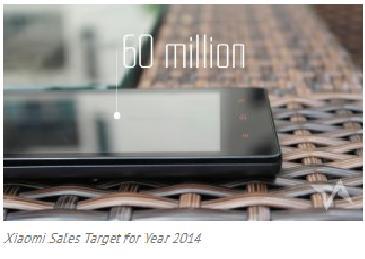 Xiaomi Targetkan 60 Juta Unit Ponsel Terjual di 2014!