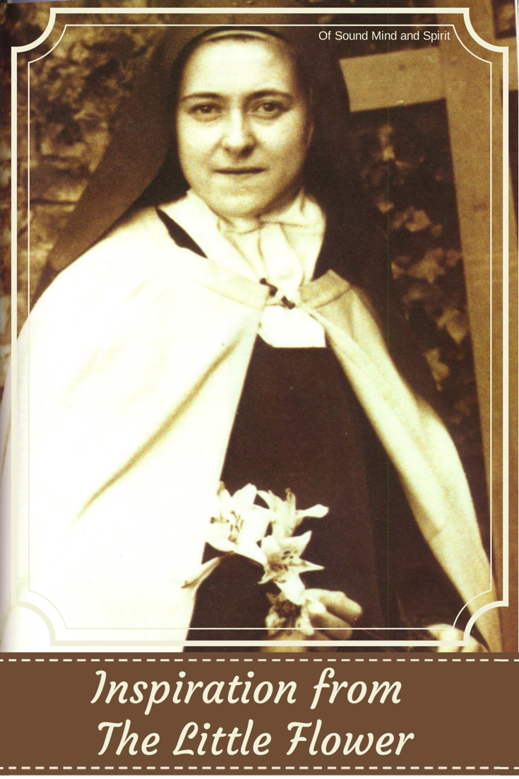 Inspiration from The Little Flower, St Therese of Lisieux