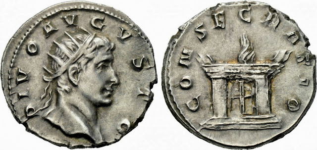 Antoniniano del emperador romano Decio - serie de los divi