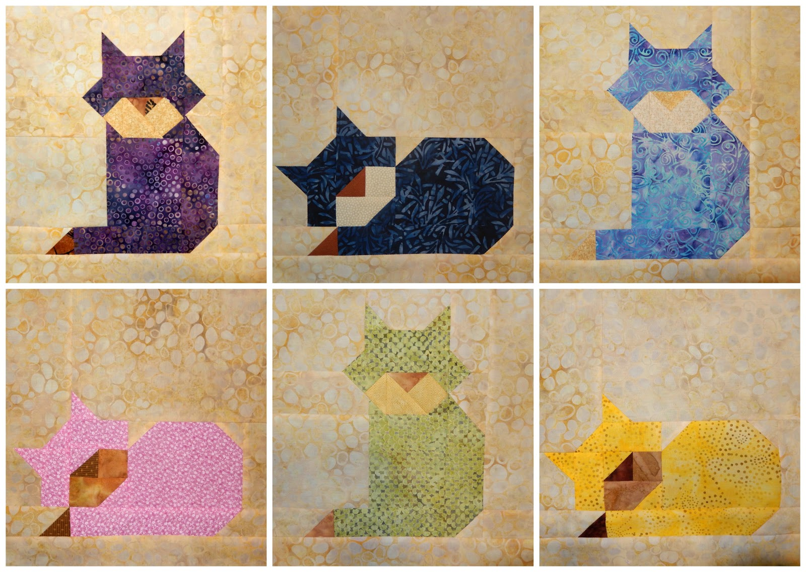 Effortless image with free printable cat quilt patterns