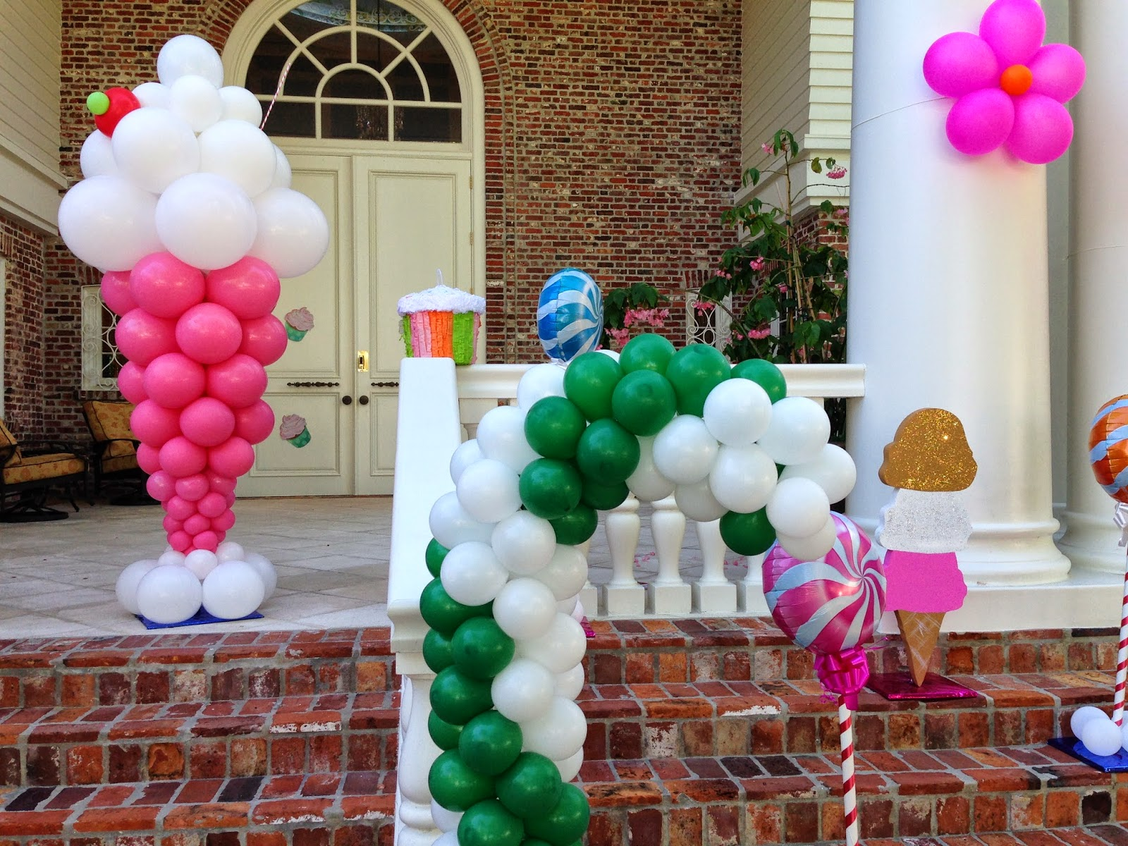 Candy Land themed kids party decoration
