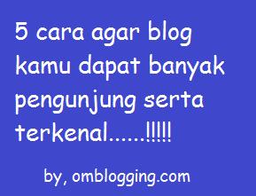 Dijelaskan tentang apa saja hal pokok yang harus anda lakukan agar blog terkenal dan pengunjung jadi banyak.