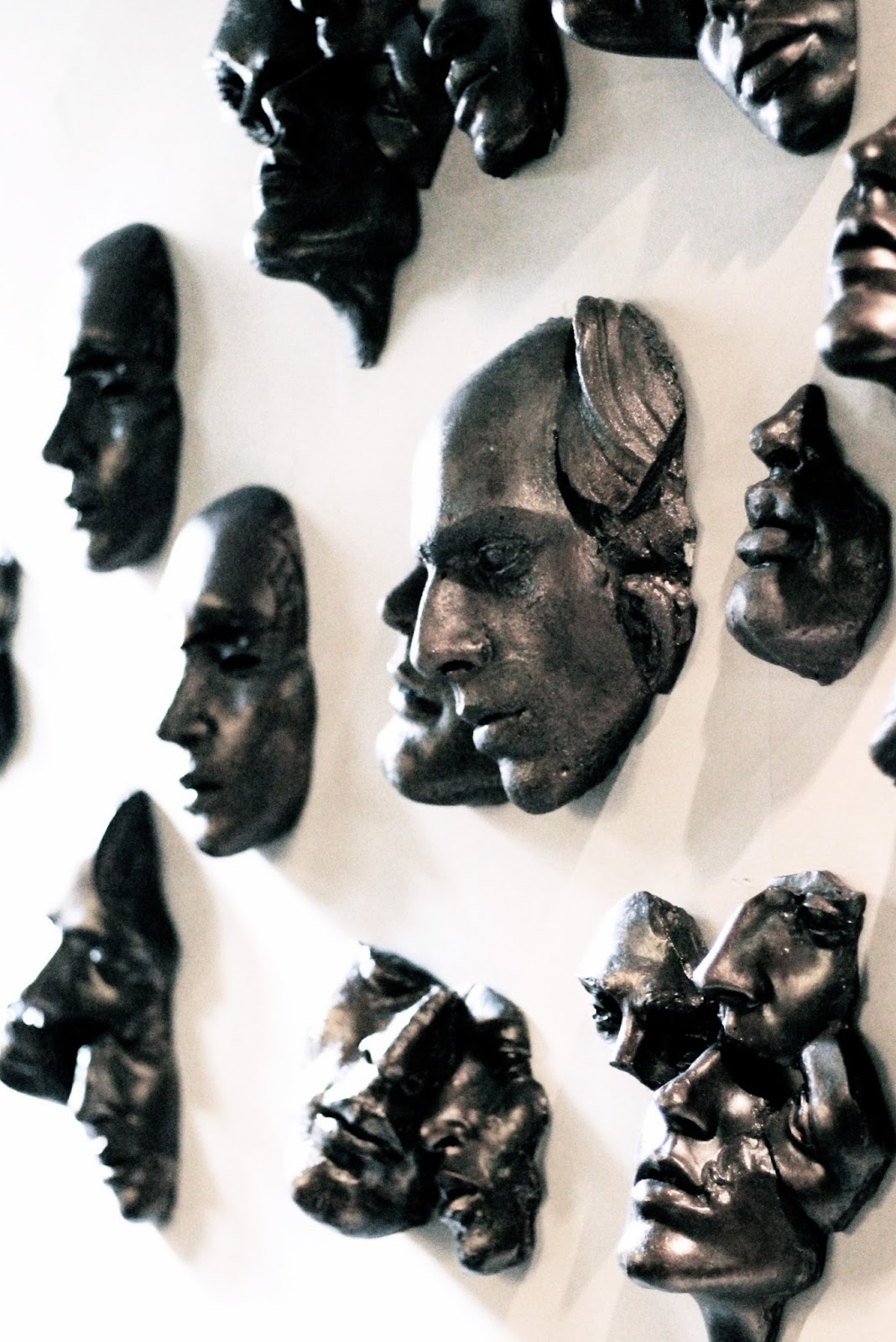 Quirky art sculptures in medieval town hotel