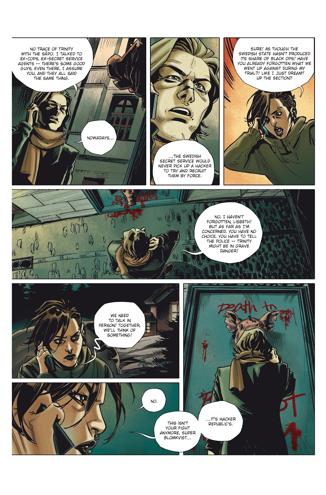Read online Millennium: The Girl Who Danced With Death comic -  Issue #1 - 32