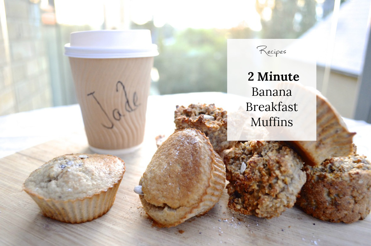 Two Minute Banana Breakfast Muffins | Recipe