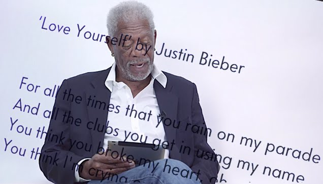 Morgan Freeman Dramatically Reads Justin Bieber's 'Love Yourself'
