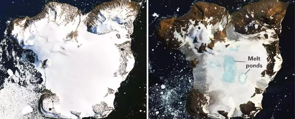 NASA Pictures Depict Ice Melt In Antarctica's Eagle Island