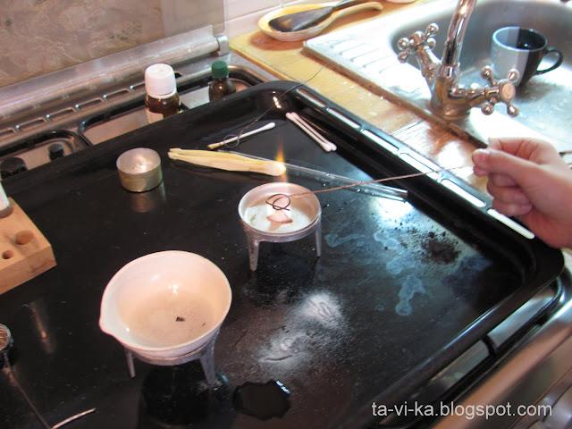 Химический опыт получение желтого пламени