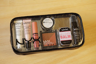 NYX Tricks of the Trade Travel kit, Nyx Cosmetics, Nyx All Over Balm, Argan Oil, nyx lip butter, creme brulee, nyx pore filler, nyx makeup setting spray, Beauty, Beauty blog, Makeup review, makeup blog, Top beauty blog, beauty blogger, Make up, red alice rao