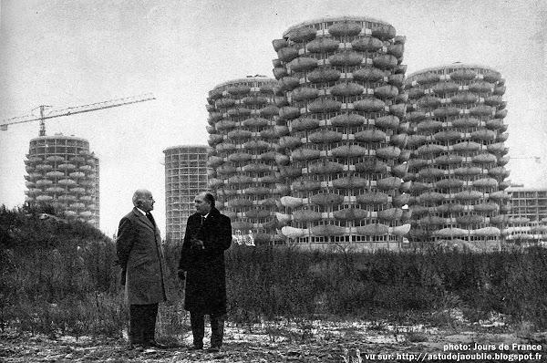 Créteil - Les Choux - Dalhia - Epis de maïs - Maisons-fleurs  Architecte: Gérard Grandval  Construction: 1969 à 1974.